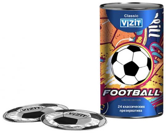 Визит презервативы классические футбол 24 шт., фото №1