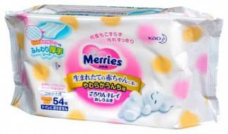 Меррис салфетки влажные детские 54 шт. сменный блок