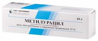 Метилурацил 10% 25г мазь для местного и наружного применения биохимик