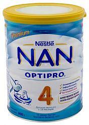 Нестле нан оптипро 4 смесь молочная 800г