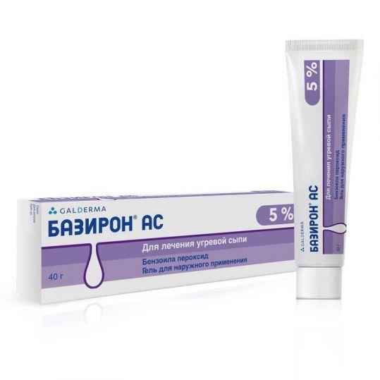 Базирон ас 5% 40г гель, фото №1