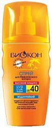 Биокон сан актив спрей солнцезащитный для безопасного загара spf40 120мл