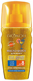 Биокон солнце масло-спрей для загара spf8 160мл