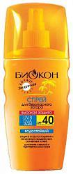 Биокон солнце спрей для безопасного загара spf40 160мл