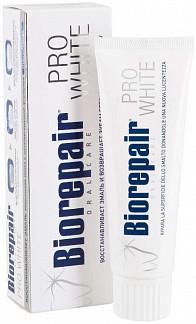 Биорепейер про вайт зубная паста сохраняющая белизну эмали 75мл