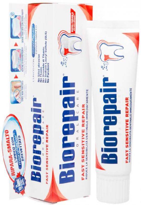 Биорепейер фаст сенсетив репейер зубная паста для чувствительных зубов 75мл, фото №1
