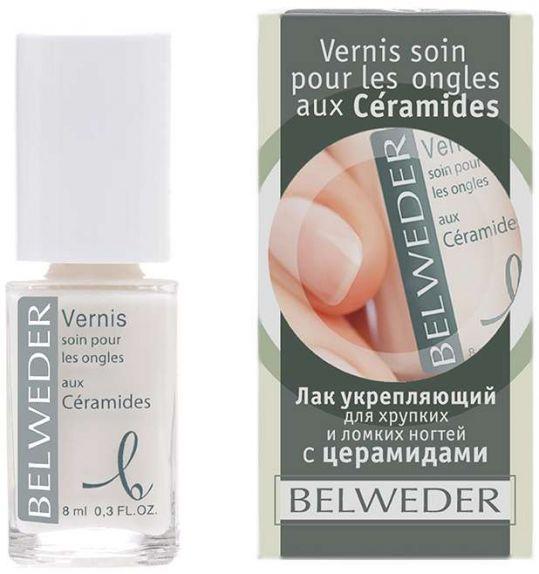 Бельведер лак для хрупких и ломких ногтей с церамидами 8мл, фото №1