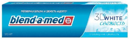 Бленд-а-мед зубная паста 3d вайт прохладная свежесть 100мл, фото №1
