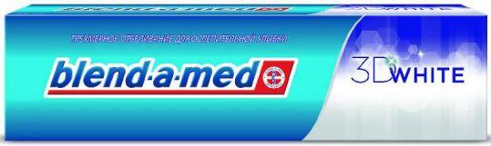 Бленд-а-мед зубная паста 3d вайт трехмерное отбеливание 100мл, фото №1
