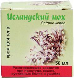 Исландский мох крем для тела при простуде 50мл медикомед нпф,ооо