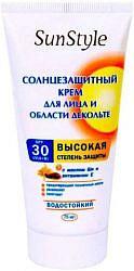 Сан стайл крем для лица,декольте spf-30 75мл