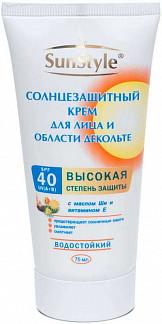 Сан стайл крем солнцезащитный для лица/декольте spf40 75мл