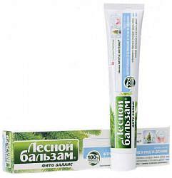 Лесной бальзам зубная паста фито баланс натуральное отбеливание/уход за деснами 75мл