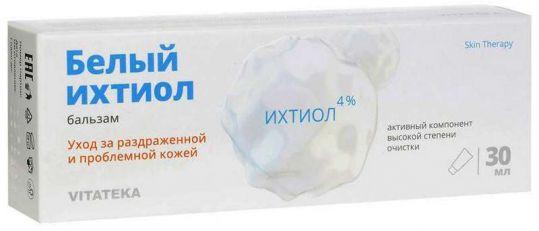 Витатека бальзам белый ихтиол для ухода за раздраженной проблемной кожей 30мл, фото №1