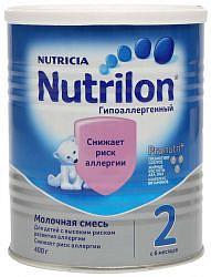 Нутриция нутрилон гипоаллергенный 2 смесь молочная 400г
