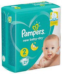 Памперс нью беби-драй подгузники мини размер 2 4-8кг 27 шт.