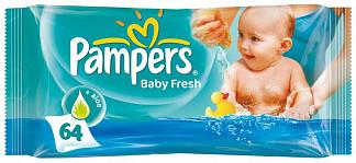 Памперс салфетки влажные беби фреш 64 шт.