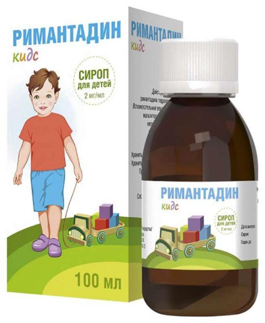 Римантадин кидс 2мг/мл 100мл сироп для детей, фото №1