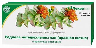Родиола четырехчленная корневища с корнями (красная щетка) 20 шт. фильтр-пакет