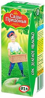 Сады придонья сок зеленое яблоко осветленный 0,2л