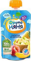 Фрутоняня пюре фруктовый салатик 90г