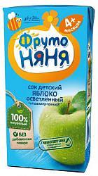 Фрутоняня сок яблоко неосветленный для детей ран возраста 200мл