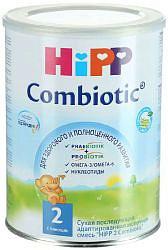 Хипп 2 комбиотик смесь с 6 месяцев 350г milchwirtschaftliche industrie gesellsch