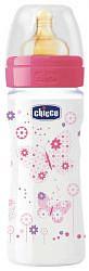 Чикко велл бейнг бутылочка +соска латексная для девочек 2+ 250мл