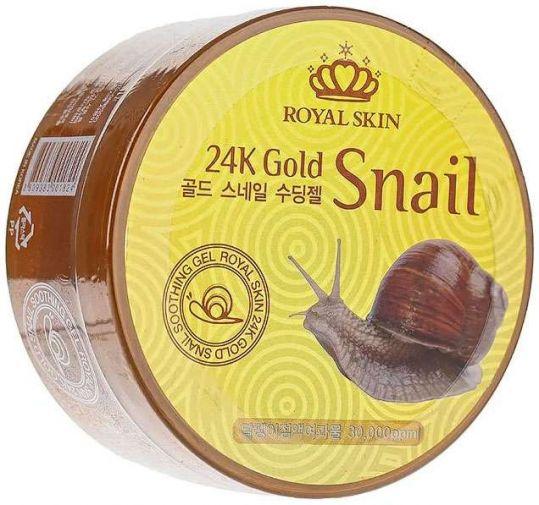 Роял скин гель для лица/тела многофункциональный 24 каратное золото/улиточная слизь 300мл, фото №1
