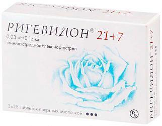 Ригевидон n21+7 таблетки покрытые оболочкой