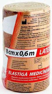 Лаума бинт эластичный медицинский 8x60см