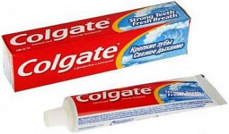 Колгейт крепкие зубы зубная паста свежее дыхание 100мл