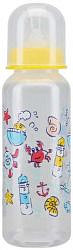 Курносики бутылочка пластиковая с силиконовой соской 11004 0+ 250мл