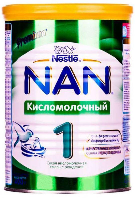 Нестле нан кисломолочный 1 смесь молочная 400г, фото №1