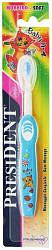 Президент бэби зубная щетка для детей 0-4 лет мягкая арт.354