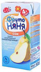 Фрутоняня сок груша осветленный 0,2л