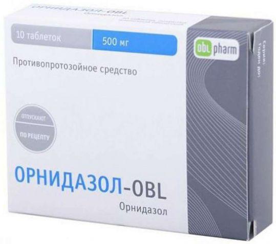 Орнидазол 500мг 10 шт. таблетки, фото №1