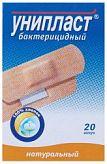 Унипласт пластырь бактерицидный натуральный 20 шт.