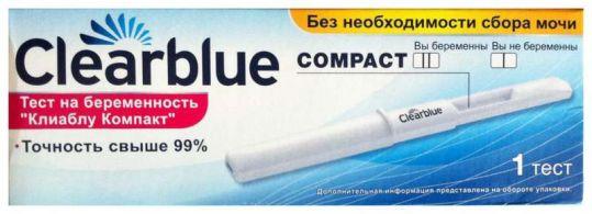 Тест на беременость клиаблу компакт 1 шт., фото №1