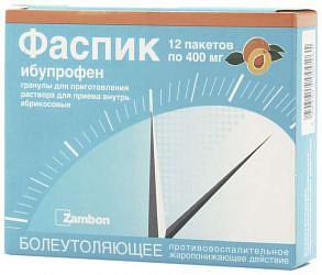 Фаспик 400мг 3г 12 шт. гранулы для приготовления раствора для приема внутрь абрикосовые