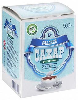 Сладкий сахар белый со стевией 500г