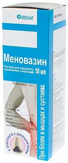 Меновазин 50мл раствор для наружного применения спиртовой