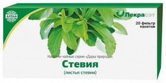 Стевия листья 1,5г 20 шт. фильтр-пакет
