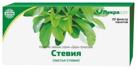 Стевия листья 1,5г 20 шт. фильтр-пакет, фото №1