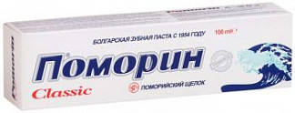 Поморин зубная паста классик без фтора 100г