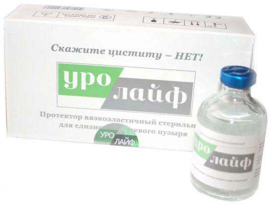 Уролайф вязкоэластичный протектор оболочки мочевого пузыря стерильный 50мл, фото №1
