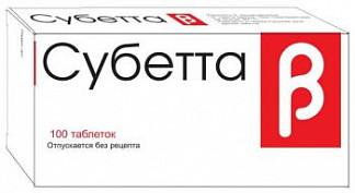Субетта 100 шт. таблетки для рассасывания