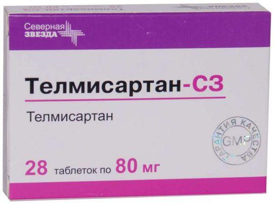 Телмисартан-сз 80мг 28 шт. таблетки, фото №1