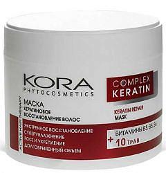 Кора маска для волос кератиновое восстановление 300мл