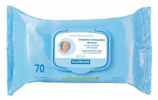 Клоран бебе салфетки влажные очищающие плотные с экстрактом календулы 70 шт.